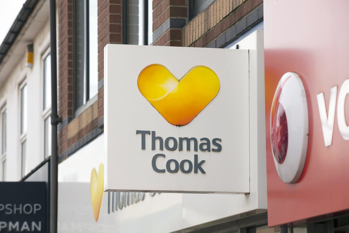 Thomas Cook Travel Agents Sign - Scunthorpe, Lincolnshire, United Kingdom